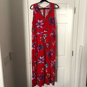 Old Navy cute tropical maxi dress, only worn once